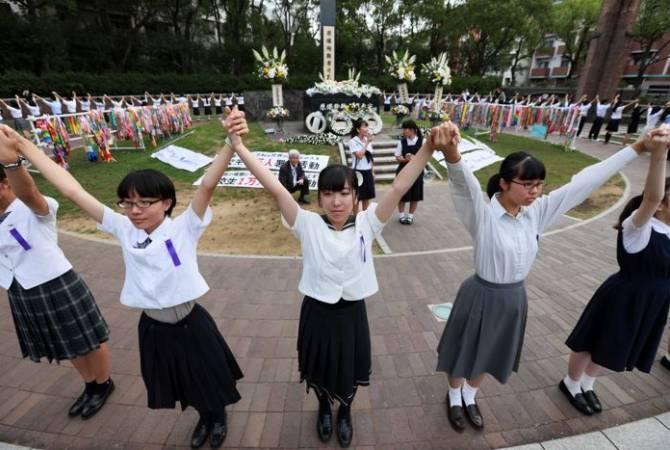 Japonya'nın Nagasaki kentinde atom bombası kurbanları anılıyor