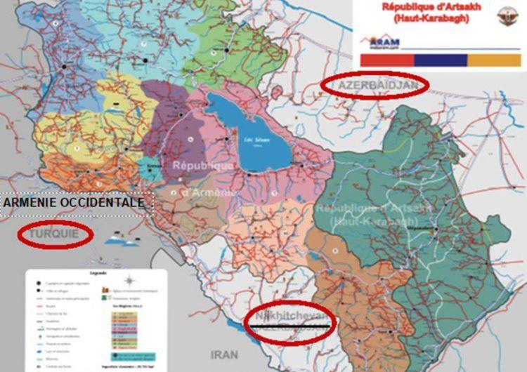 ARAM Derneği tarafından çizilmiş harita Fransa'daki Ermenileri ayırıyor