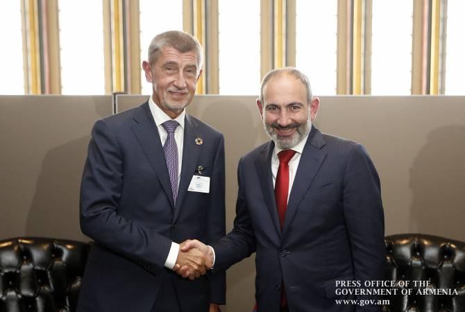 Премьер-министры Армении и Чехии обсудили вопросы двустороннего сотрудничества