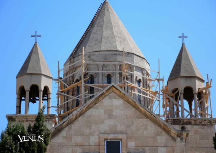 В Алеппо начата реконструкция колоколни церкви Сурб Мариам Аствацацин