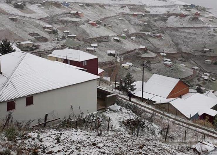 Выпал первый снег в некоторых районах Западной Армении