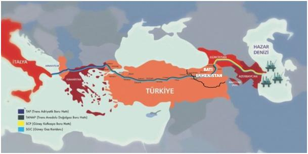 Азербайджанский трубопровод TANAP, проходящий через Западную Армению, достиг Греции