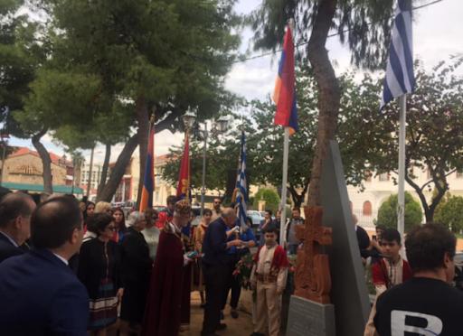 Յունական Կալամատա քաղաքին մէջ բացեր են Հայերու դէմ կատարուած ցեղասպանութեան զոհերու յուշարձան