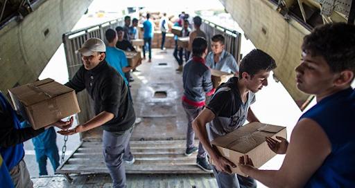 Жители провинции Алеппо получили гуманитарную помощь от Вооруженных сил России