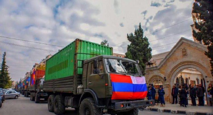 Suriye Ermeni toplumu için toplanan insani yardım Halep'e ulaştı