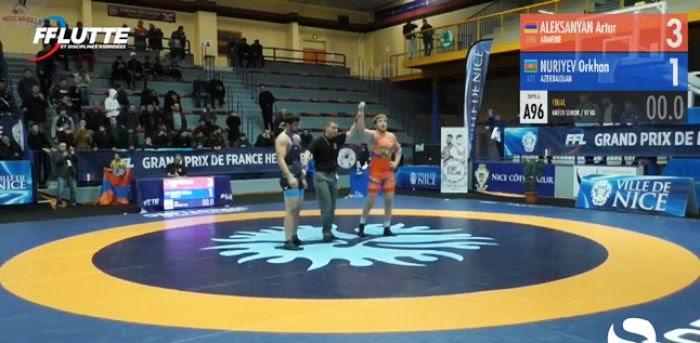 Arthur Aleksanyan beats Azerbaijan opponent in final