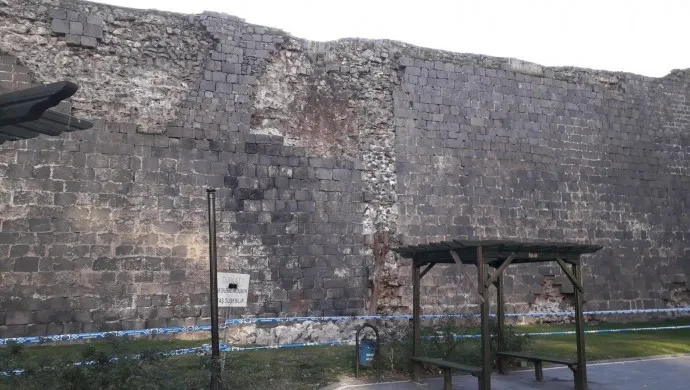 The historic fence of Tigranakert suffered from the Kharberd earthquake