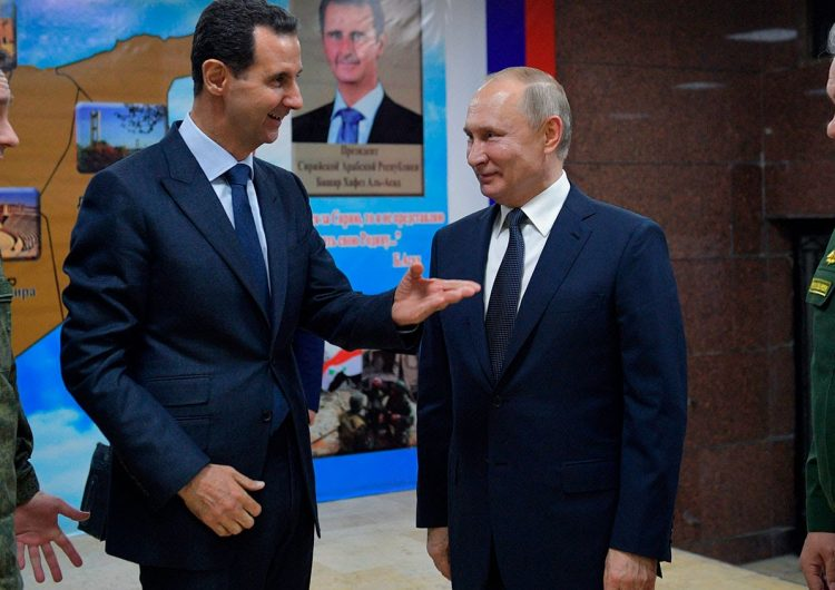 President of Russia travels to Syria to meet with Bashar Assad