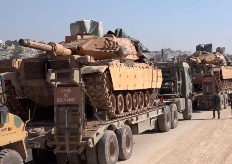 Թրքական բանակը մէկ տասնեակ հրասայլ եւ այլ զրահամեքենաներ տեղափոխեր է Իդլիբ