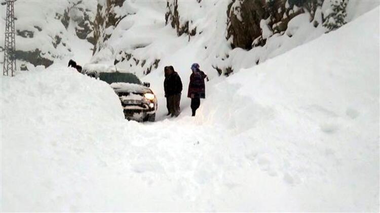 Batı Ermenistan'ın Artvin-Ardahan karayolunun Sahara Geçidi'nde çığ düştü
