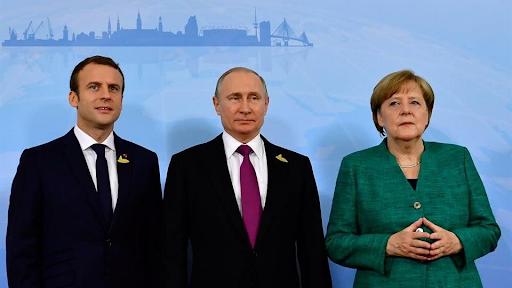 Путин, Макрон и Меркель обсудили ситуацию в Идлибе