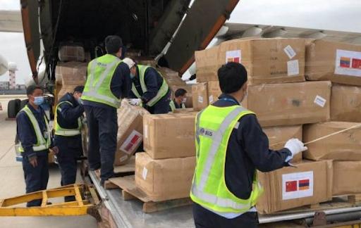 Çin'den Ermenistan Cumhuriyeti'ne enfekteye karşı gerekli   ekipman ve malzemeler gönderildi