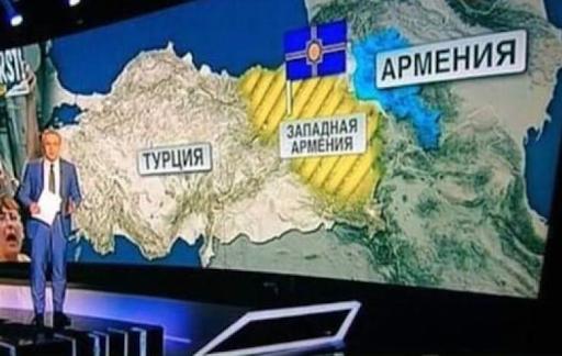 Արեւմտեան Հայաստանի քարտէսի ցուցադրումը ռուսական եթերով' դժգոհութիւն յառաջացուցեր է Թիւրքիոյ մէջ
