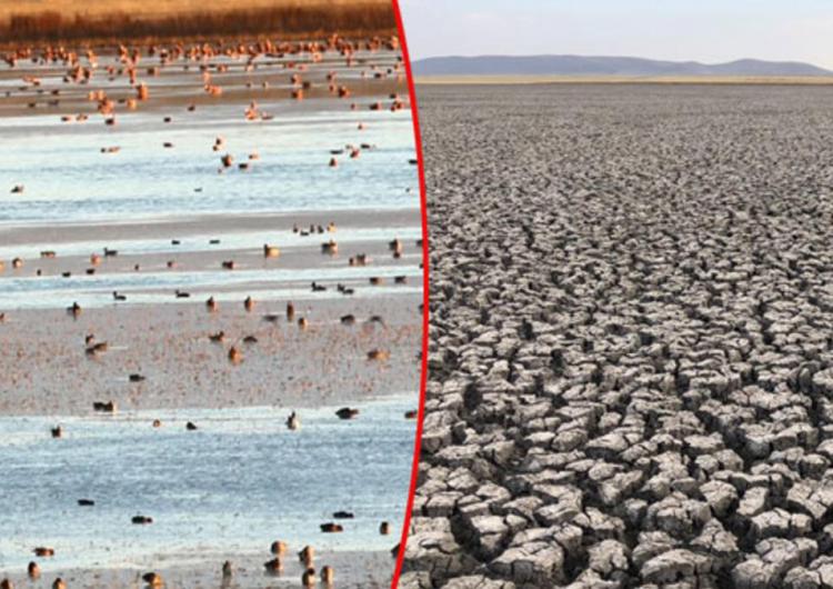 Озеро Куюджук в Карсе, Западная Армения, снова наполнилась водой