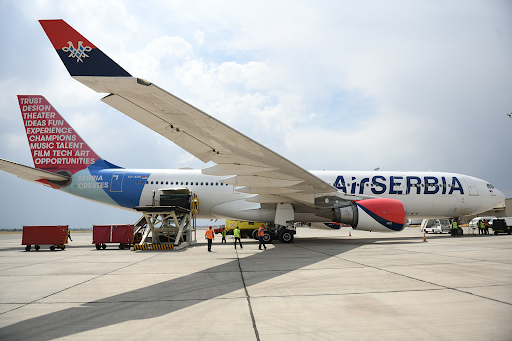 The first plane loaded with medical supplies and equipment arrived in Yerevan from Serbia