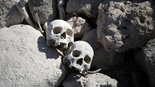 Skulls and bones were found in the cave of Mardin, Western Armenia