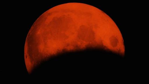 Лунное затмение в Западной Армении
