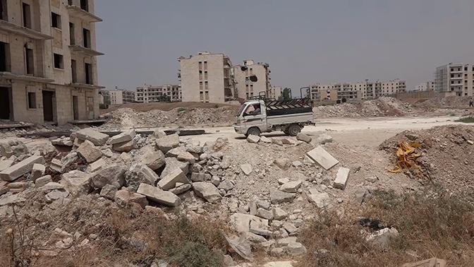 Halep'te savaşın yıktığı mahallelerden biri restore ediliyor