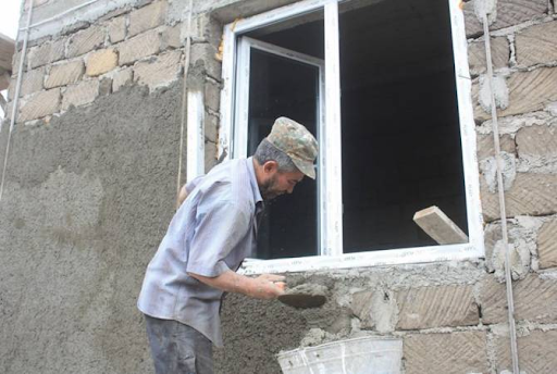 House construction is underway in Kashatagh