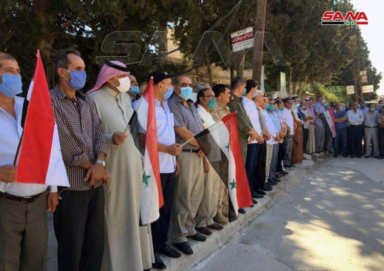 Жители района Хасака Сирии выступили против американо-турецкой оккупации