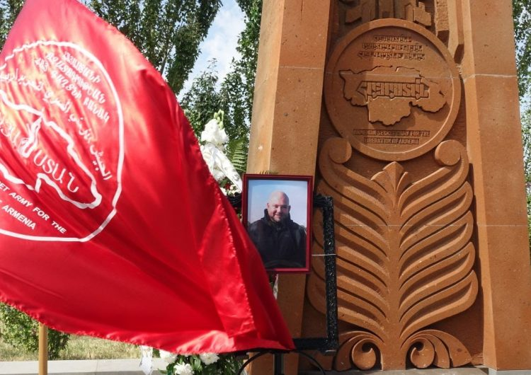 The funeral of ASALA member Hakob Daghlian took place today in Yerablur Pantheon