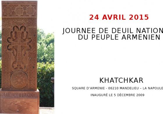 (Français) JOURNEE DE DEUIL NATIONAL  DU PEUPLE ARMENIEN - 24 AVRIL 2015