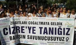 (Turkish) Kadınlar İstanbul'dan Cizre'ye doğru yola çıktı